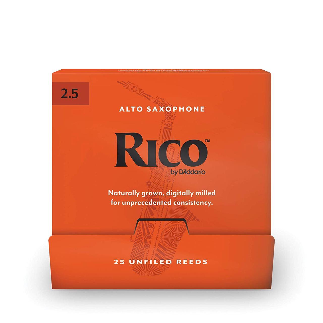 D'Addario Rico - Alto Sax #2.5 - 25 Pack Трости для альт саксофона (RJA0125-B25)