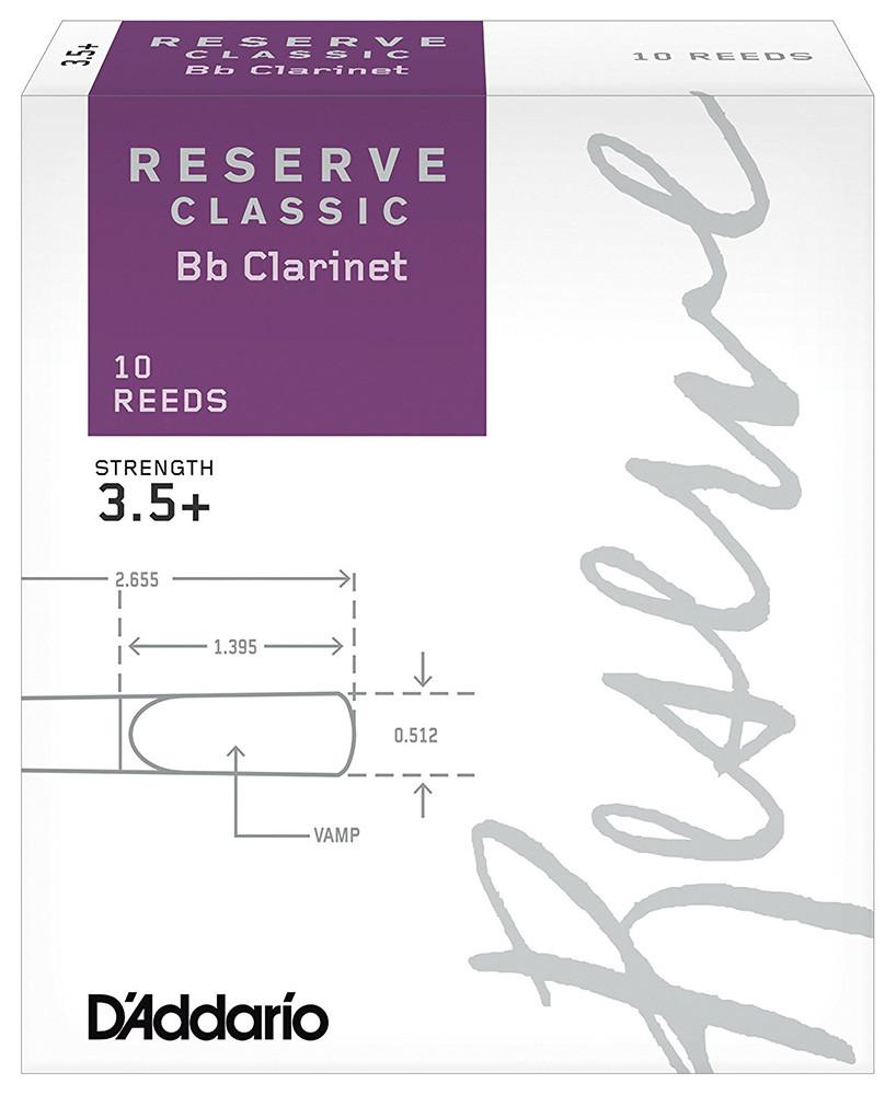D`ADDARIO Reserve Classic Bb Clarinet #3.5+ - 10 Box Трости для кларнета (DCT10355)
