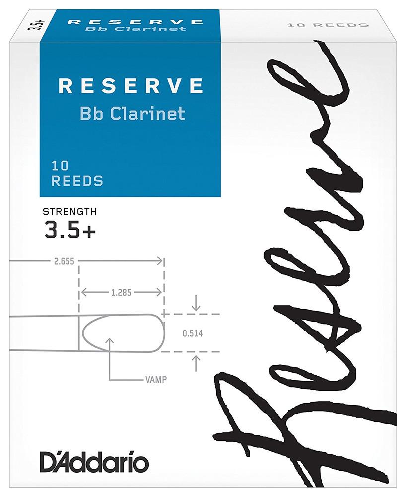 D`ADDARIO Reserve Bb Clarinet #3.5+ - 10 Box Трости для духовых (DCR10355)
