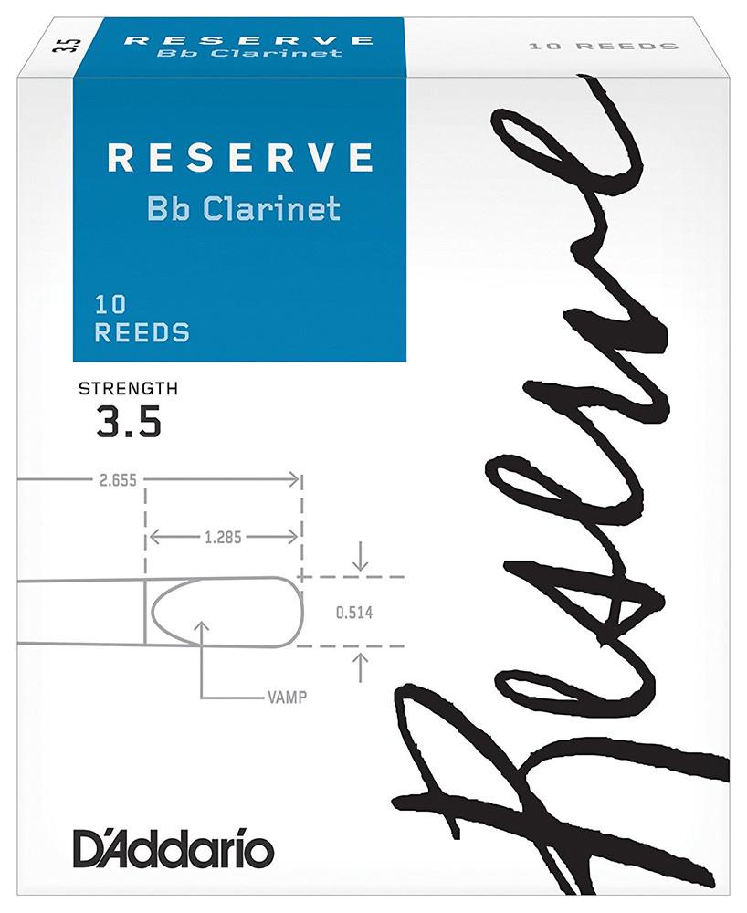 D`ADDARIO Reserve Bb Clarinet #3.5 - 10 Box Трости для духовых (DCR1035)
