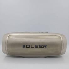 Портативная Bluetooth колонка Koleer S1000 Золотая (код: 48003 )