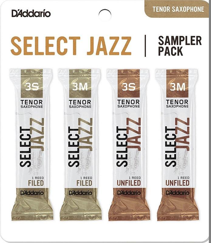 D`ADDARIO Select Jazz Reed Sampler Pack - Tenor Sax 3S/3M Трости для тенор саксофона (DSJ-K3S)