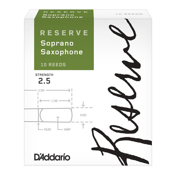 D'Addario Reserve - Soprano Sax #2.5 - 10 Pack Трости для духовых (DIR1025)