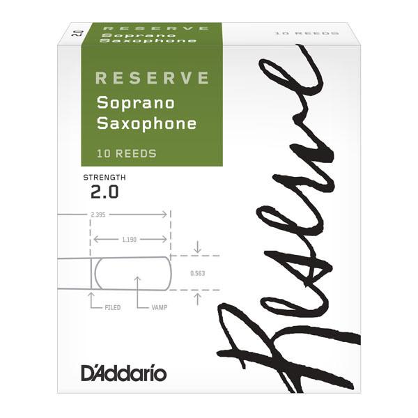 D'Addario Reserve - Soprano Sax #2.0 - 10 Pack Трости для духовых (DIR1020)