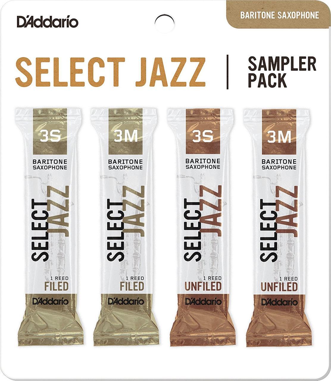 D`ADDARIO Select Jazz Reed Sampler Pack - Baritone Sax 3S/3M Трости для духовых