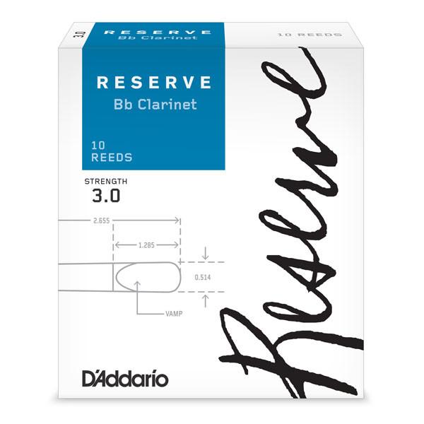 D`ADDARIO Reserve Bb Clarinet #3.0 - 10 Box Трости для кларнета Bb (DCR1030)