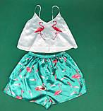 Комплектик топ + шорты  фламинго зеленый, фото 5