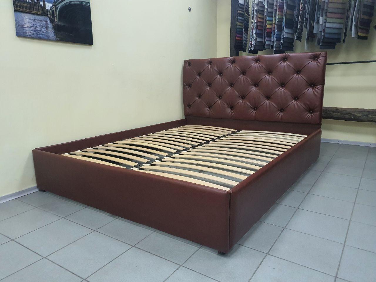 Кровать Дайкири с мягким изголовьем, на ламелях, с подъемным механизмом