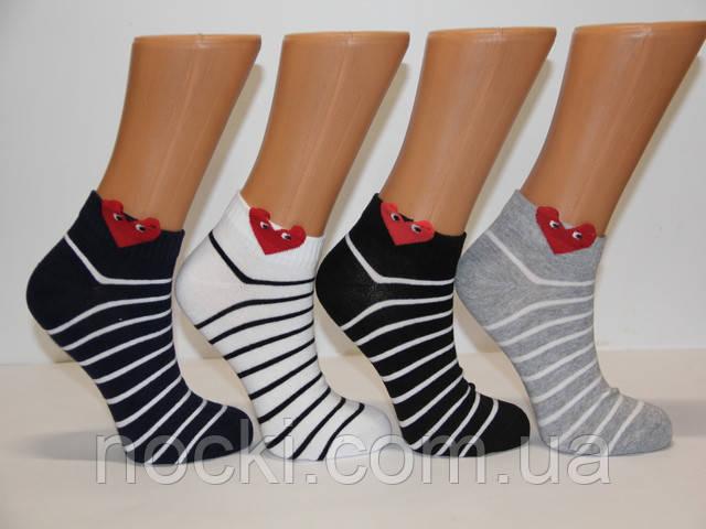 Женские носки короткие с хлопка 3D ZG 36-40 ассорти