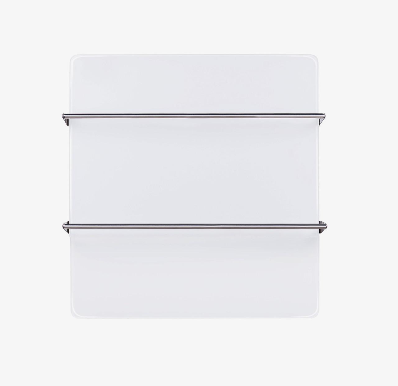 Инфракрасный стеклянный ультра белый полотенцесушитель Sun Way, 400Вт