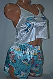 Комплектик топ + шорты Unicorn голубой, фото 2