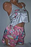 Комплектик топ + шорты Unicorn розовый, фото 2