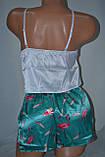 Комплектик топ + шорты  фламинго зеленый, фото 6