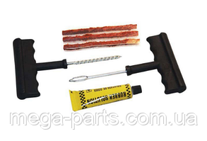 Набор для ремонта бескамерной шины 2 иглы, 3 шнура, клей (6 шт в наборе)
