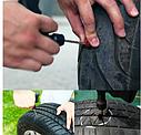 Набор для ремонта бескамерной шины 2 иглы, 3 шнура, клей (6 шт в наборе), фото 3