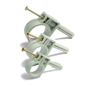 Обойма для труб Ø 16мм с ударным шурупом