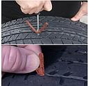 Набор для ремонта бескамерной шины 2 иглы, 3 шнура, клей (6 шт в наборе), фото 4