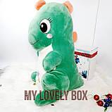 Динозавр (плед +игрушка) Зелёный, фото 2