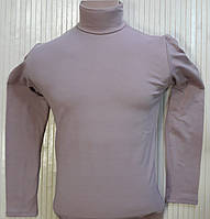 Гольф (водолазка) мужской, теплый, на флисе, кофейный размер 46-50