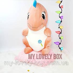 Динозавр (плед +игрушка) Коралловый