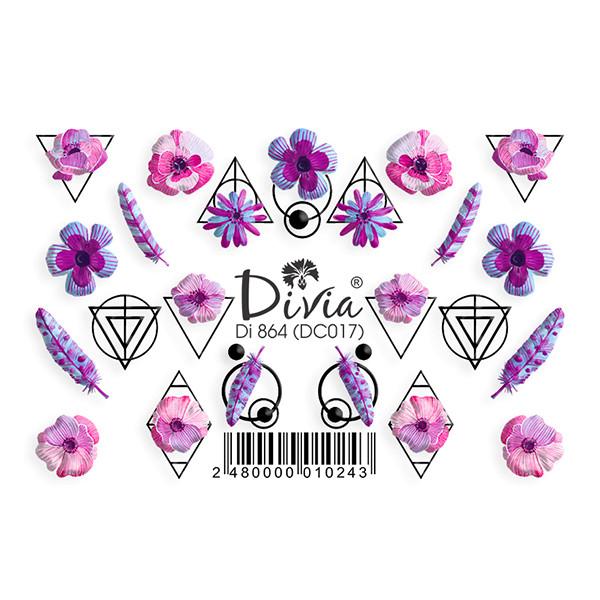 """Наклейка """"3D"""" Di864 (цветные) DC017"""