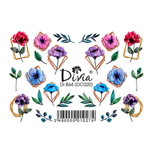 """Наклейка """"3D"""" Di864 (цветные) DC020"""