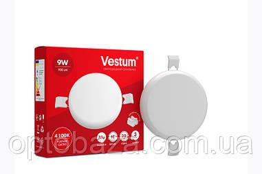 LED светильник (без рамки) врезной круг Vestum 9W 4100K 220V