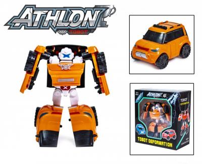 Детская игровая фигурка робота-трансформера из серии Тобот Атлон 528, Оранжевая машинка