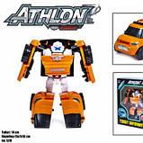 Детская игровая фигурка робота-трансформера из серии Тобот Атлон 528, Оранжевая машинка, фото 2