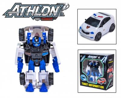 Детская игровая фигурка робота-трансформера из серии Тобот Атлон 528, Полицейская машинка
