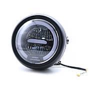 Мото фара головного світла D023 6 дюймів CREE LED 30 W, Cafe Racer, Bobber, Custom, 12 V