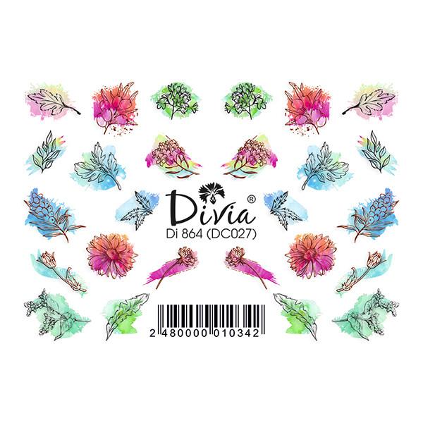 """Наклейка """"3D"""" Di864 (цветные) DC027"""