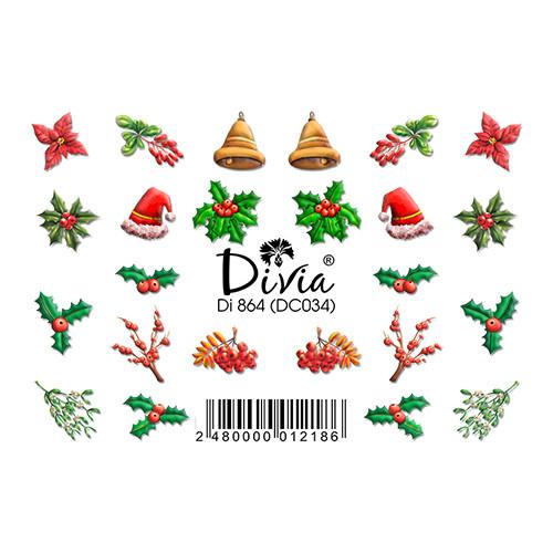 """Наклейка """"3D"""" Di864 (цветные) DC034 - зима"""