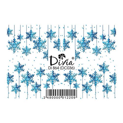 """Наклейка """"3D"""" Di864 (цветные) DC036 - зима"""