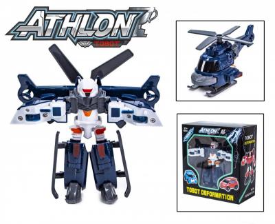 Детская игровая фигурка робота-трансформера из серии Тобот Атлон 528, Серый вертолет