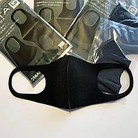Маска многоразовая защитная питта угольная Оригинал Pitta Mask 3 шт