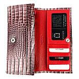 Женский кошелек Karya 1101-505 из натуральной кожи пудра, фото 5