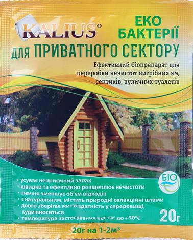 Біодеструктор Каліус біопрепарат для приватного сектору (20 гр), Біохім-Сервіс, фото 2