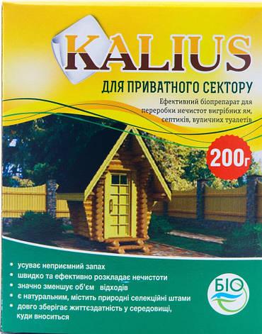 Біодеструктор Каліус біопрепарат для приватного сектору (200 гр), Біохім-Сервіс, фото 2