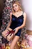 Женская велюровая пижамы маечка и шорты, фото 5