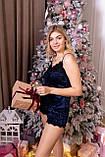 Женская велюровая пижамы маечка и шорты, фото 6