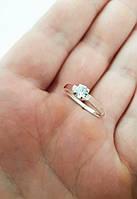 """Серебряное кольцо с золотыми пластинами """"Ариана"""", фото 1"""