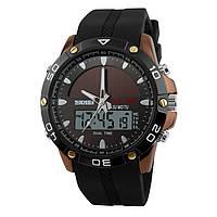Skmei 1064 коричневый спортивные часы мужские, фото 1