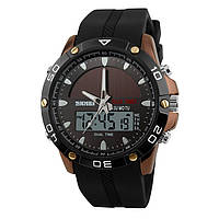 Skmei 1064 solar сріблясті спортивні годинники чоловічі, фото 1