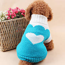 Теплый свитер для собак Taotaopets 675501 Blue XS домашних животных, фото 2