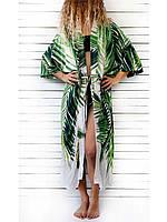 Жіноча пляжні туніки з принтом пальмового листя (розмір універсальний 42-48), фото 1