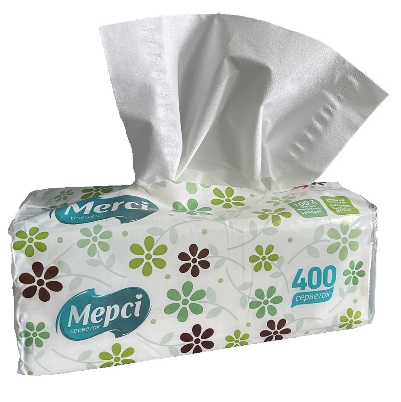 """Салфетки бумажные """"Мерси"""" (400 шт)"""