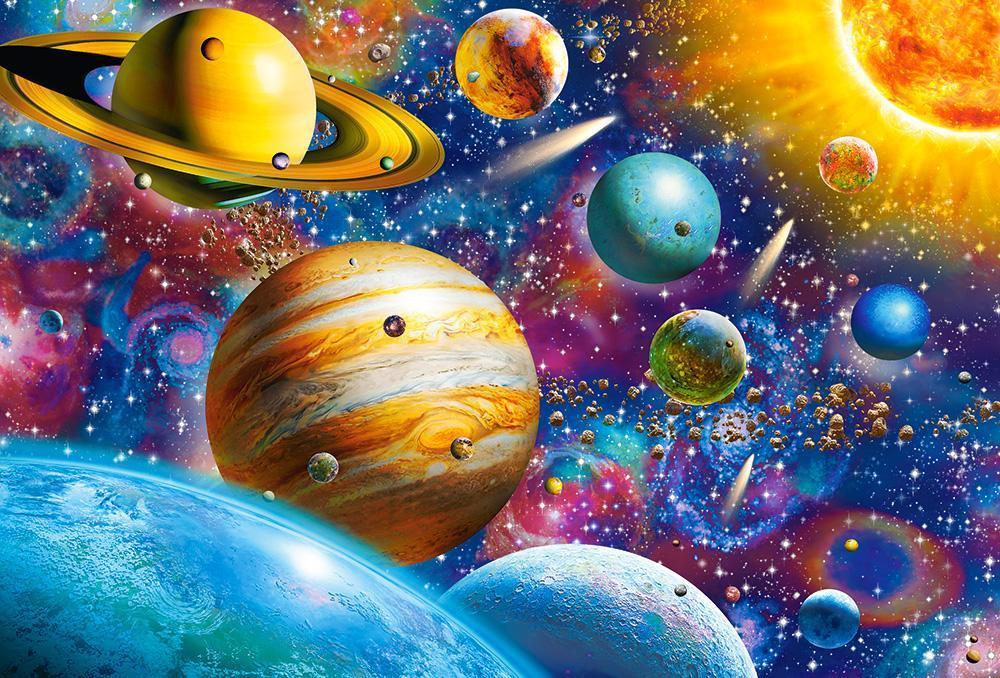"""Пазли """"Подорож по Сонячній системі"""" Castorland 1000 елементів C-104314"""