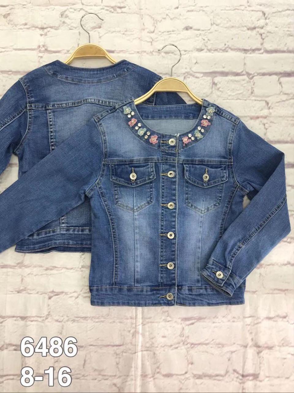 Стильна джинсова курточка для дівчинки 8-16 років