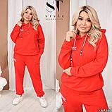 Качественный спортивный костюм женский Турецкая двунитка пинье Размер 50 52 54 56 58 60 Разные цвета, фото 2